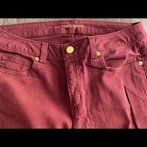 Michael Kors Burgundy Skinny jeans Size 6
